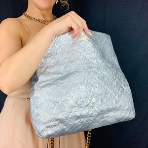 Louis Vuitton Bags - LOUIS VUITTON Quilted Silver Limelight GM on Chain